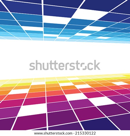 colorful abstract space - stock vector