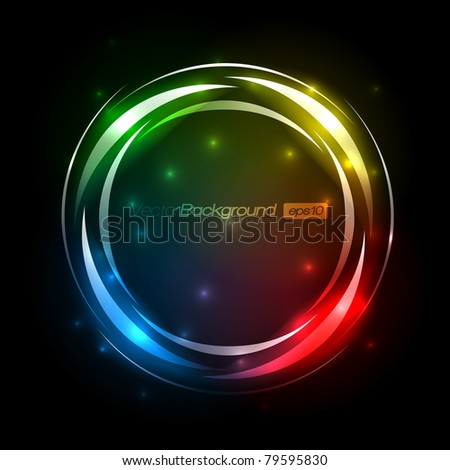 Colorful Abstract Swirl - EPS10 Vector Design Background - stock vector