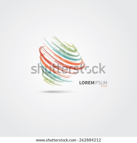 Colorful Abstract Swirl Logo Design - stock vector