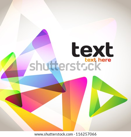 Colorful Abstract Triangles - stock vector