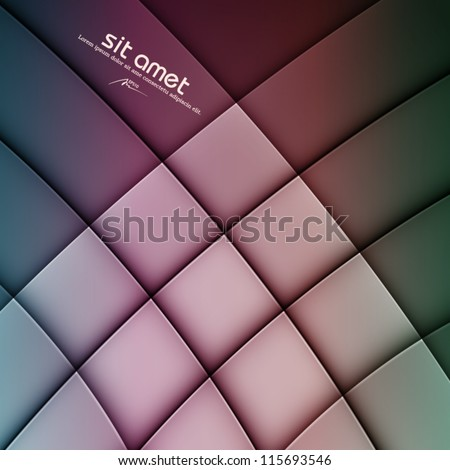 colorful abstract vector background, web design element, vintage art banner, geometric illustration - stock vector