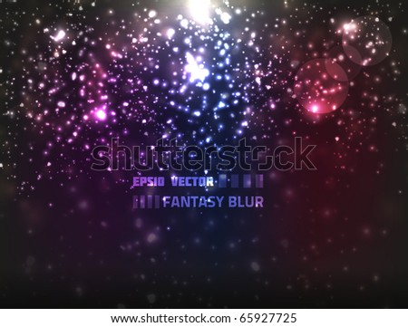 Colorful abstract vector background with blurry fantasy lights. Has a christmas feel to it. - stock vector
