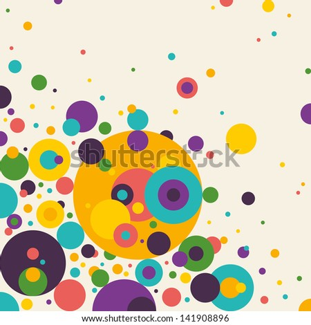 Colorful abstraction with circles. Vector illustration. - stock vector