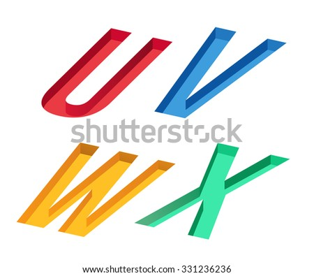 Colorful Alphabet On White Background : Vector Illustration