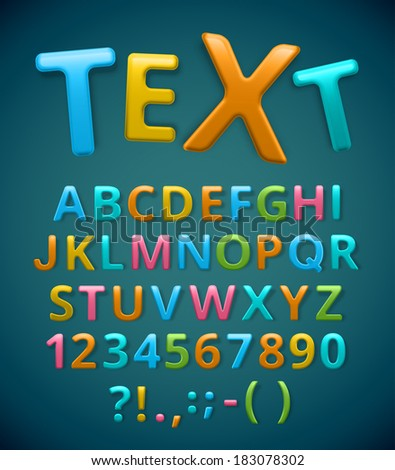 Colorful alphabet, text. Eps 10 - stock vector