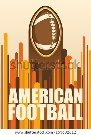 Colorful american football poster. Vector illustration. - stock vector