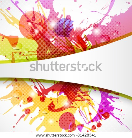 Colorful and abstract background with copy space - stock vector