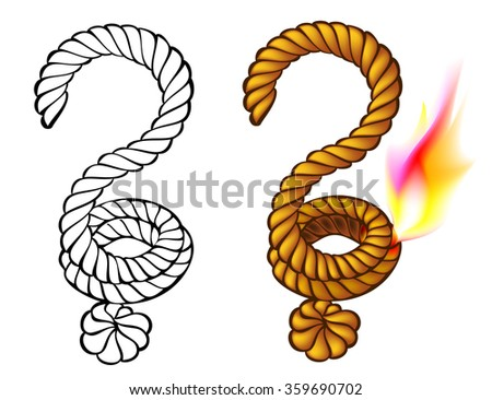 Colorful and black and white sign of question mark, vector image. - stock vector