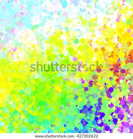 Colorful and bright vector confetti background - stock vector