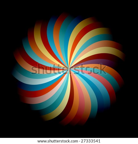 Colorful and vivid abstract flower - stock vector