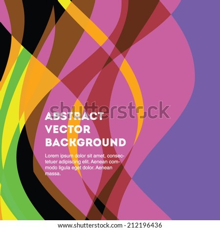 Colorful and wavy abstract vector background. Editable eps 10 illustration. - stock vector