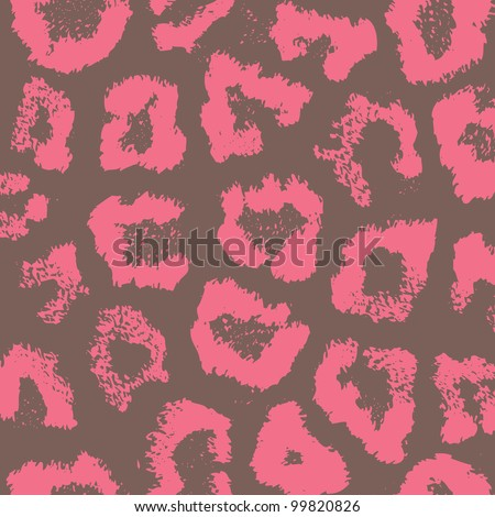 Colorful animal skin textures of leopard Seamless version look in my portfolio - stock vector