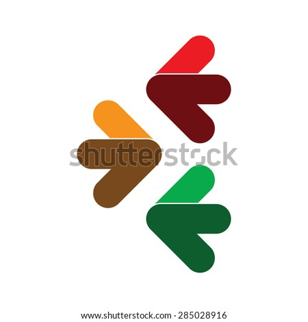 Colorful Arrow Sings - stock vector