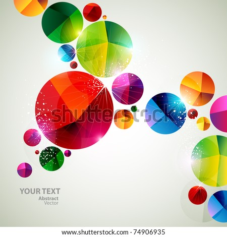 Colorful art bubbles - stock vector