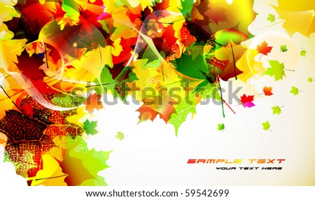 colorful autumn background design - stock vector