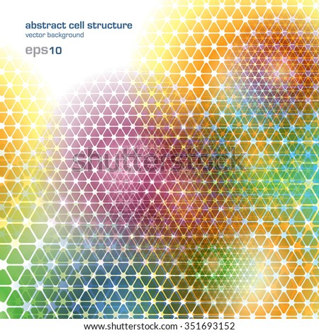 Colorful background - cells in network - stock vector