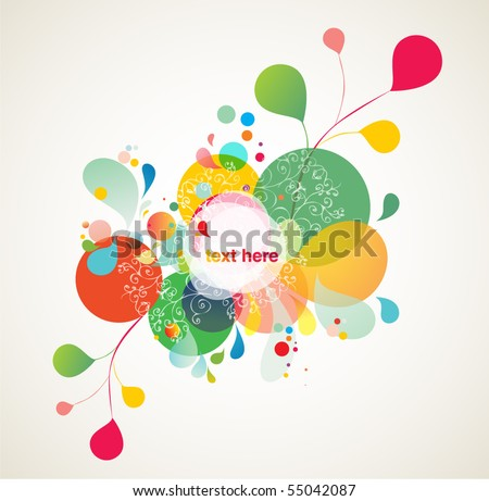 colorful background elements - stock vector