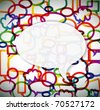 Colorful background made from speech bubbles with place for your text - stock