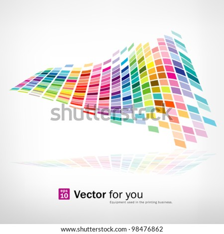 Colorful background mosaic pattern design, vector illustration - stock vector