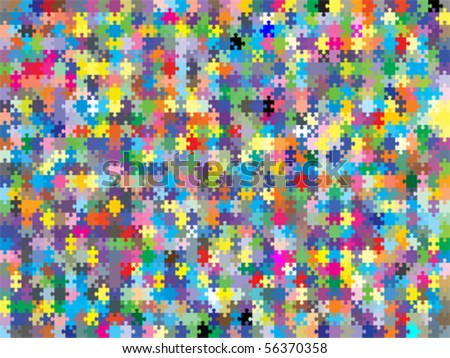 colorful background puzzle, vector - stock vector