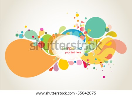 colorful background shapes