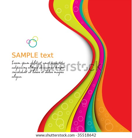 Colorful background template series - stock vector