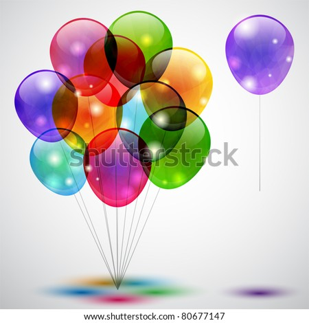 Colorful background with balloons - stock vector