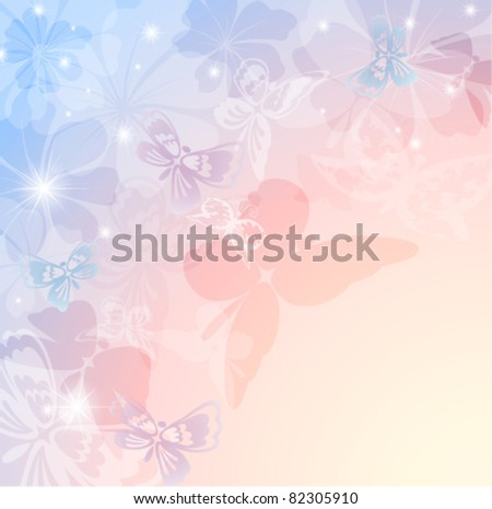 Colorful background with butterfly. EPS10 - stock vector