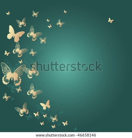 Colorful background with butterfly. Vector Illustration