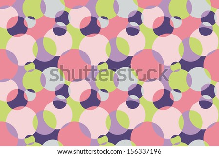 Colorful Background with Circles - stock vector