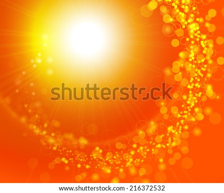 Colorful background with lights and sparkles - stock vector
