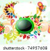 Colorful background with tv - stock vector