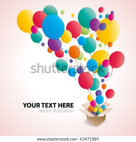 Colorful Balloon Abstract background - stock vector