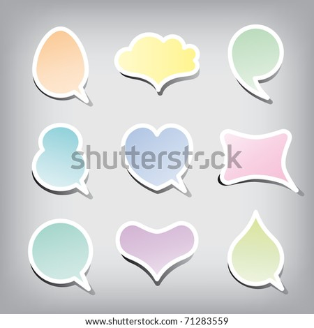 Colorful balloons set, vector.