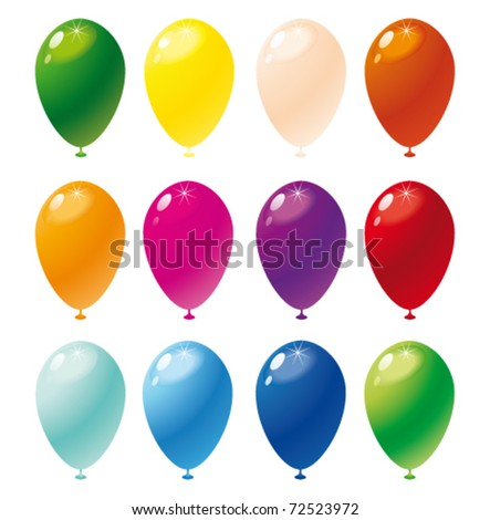 Colorful balloons. Vector - stock vector