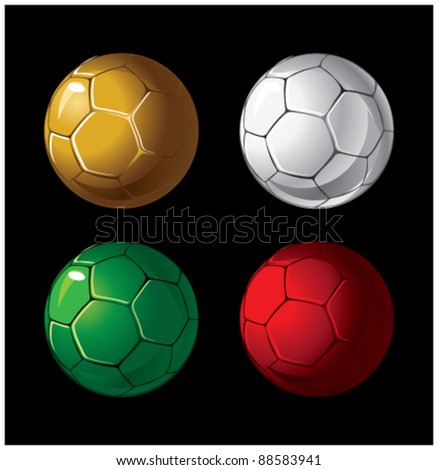 colorful balls on a black background