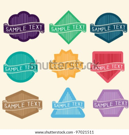 Colorful banner scroll frames - stock vector