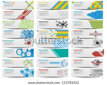 COLORFUL BANNER SET OF TWENTY-FOUR - stock vector