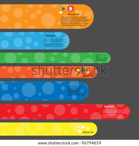 Colorful banner set with modern design circle - stock vector