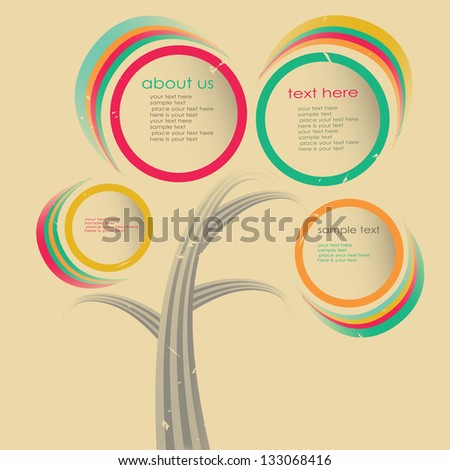 Colorful banner template for business design - stock vector