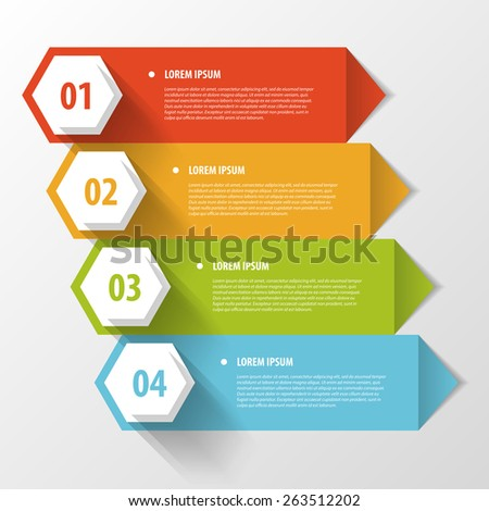 colorful banners template for step presentation