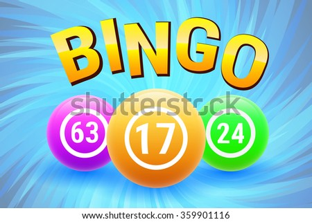 Colorful Bingo Balls. Lottery Number Balls. Vector illustration.