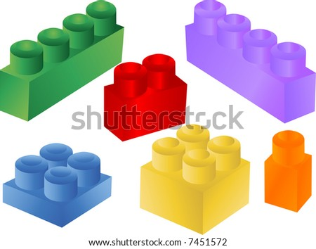 colorful blocks,vector - stock vector