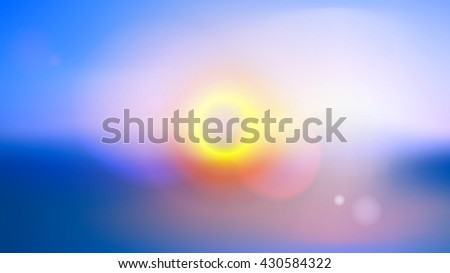 Colorful blurred background with lens effects. Vector illustration. - stock vector