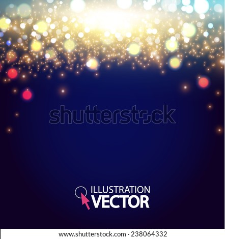 Colorful bokeh background. Vector illustration. - stock vector