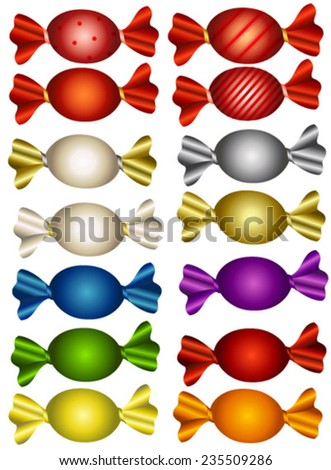 colorful bonbons - stock vector