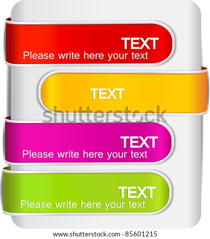 Colorful bookmarks for speech - stock vector