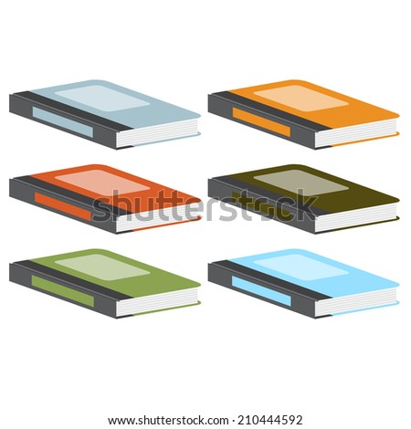 Colorful books, vector