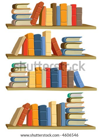 Colorful books, vector - stock vector