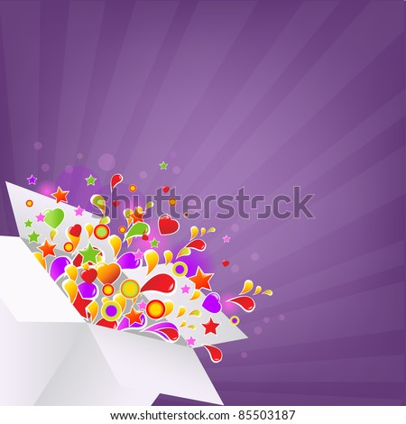 Colorful Box, Vector Illustration - stock vector